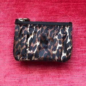 Henri Bendel leopard mini 3 pocket pouch